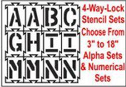 4-Way-Lock Stencils