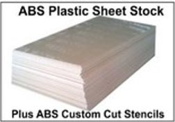ABS Plastic Sheet Stock & Custom Cut Stencils