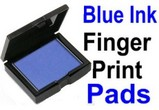 Blue Fingerprint Ink Pad