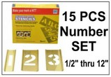 Brass 15 Piece Single Number Set