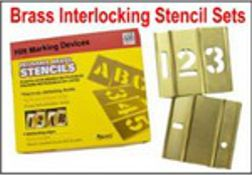 Brass Interlocking Stock Stencil Sets
