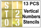 Brass 13 Piece Vertical Composition Number Set