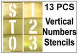 Brass 13 Piece Vertical Composition Number Set