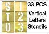 Brass 33 Piece Vertical Composition Letter Set