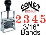 Comet Size 2 Roman Self-Inking Band Stamps