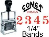 Comet Size 2-1/2 Roman Self-Inking Band Stamps