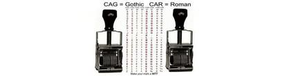 Comet Self-Inking Alphabet Stamps