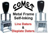 Comet Self-Inking Metal Frame Daters