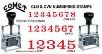 Comet Verilarge Numbering Stamps