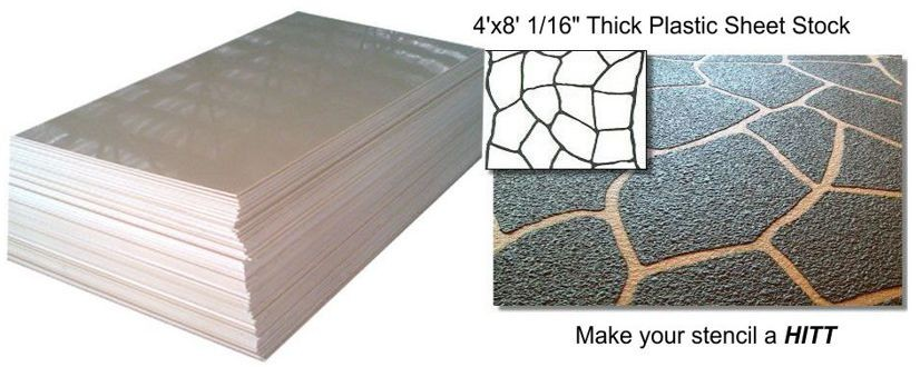 Concrete Plastic Stencil Sheet Stock