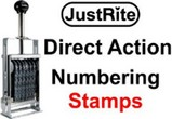 Justrite Direct Action Band Stamps