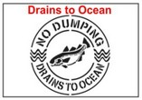 Drains into Ocean Stencil Sets, Qty. 1, 10 and 50 Pack