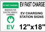 EV Charging Station Signs