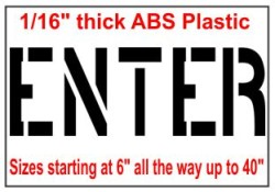ENTER Stencils, Many shape and sizes to choose from