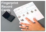 Fingerprint Record Cards and Fingerprinting Supplies