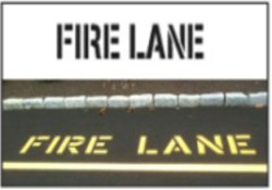 Fire Lane Stencils, Many shape and sizes to choose from