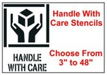 Handle With Care Stencils