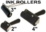 Hard Rubber Ink Rollers - Brayers