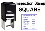 Square Inspector Stamps