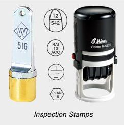 Inspection Rubber Stamps