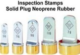 Neoprene Inspection Rubber Stamps