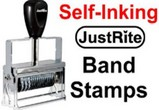 Justrite Self-Inking Numbering Band Stamps