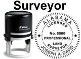 Land Surveyor State Seals, SELF-INKING