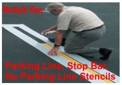 Parking Line Stencils, Many shape and sizes to choose from
