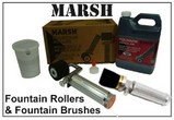 Marsh Rollers, and Fountain Brush Sets