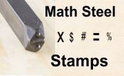 Math Steel Stamp Sets