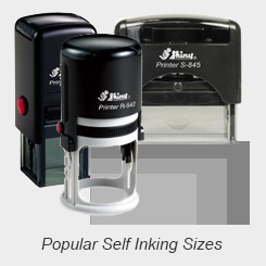 Most Popular Self Inking Rubber Stamps
