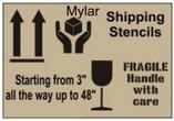 MYLAR Shipping Stencils