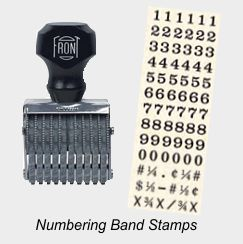 Numbering or Alpha-Numerical Band Stamps