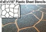 Plastic Concrete Stencils