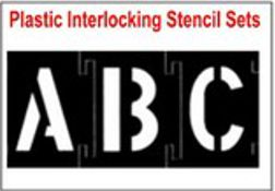 Plastic Interlocking Stencil Sets