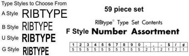 RibType Number Sets