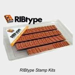 RIBtype Rubber Type Sets