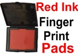 Red Fingerprint Ink Pad