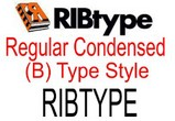 RIBtype REGULAR CONDENSED (B) Typestyle