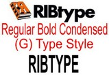 RIBtype BOLD CONDENSED (G) Typestyle