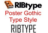 RIBtype POSTER GOTHIC Typestyle