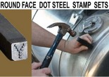 Round Face-Dot Design Steel Stamp Sets