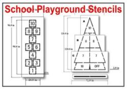 Playground and School Stencils