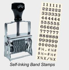 Self-Inking Numbering Band Stamps