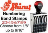 Shiny Numbering Band Stamps, Choose from 1/8