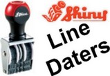 Shiny Line Dater Stamps