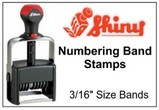 Shiny Numbering Stamps, 3/16