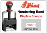 Shiny Numbering with Dieplates, 5/32