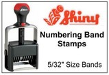 Shiny Numbering Stamps, 5/32