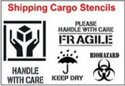 Shipping Symbol Stencils, from 3
